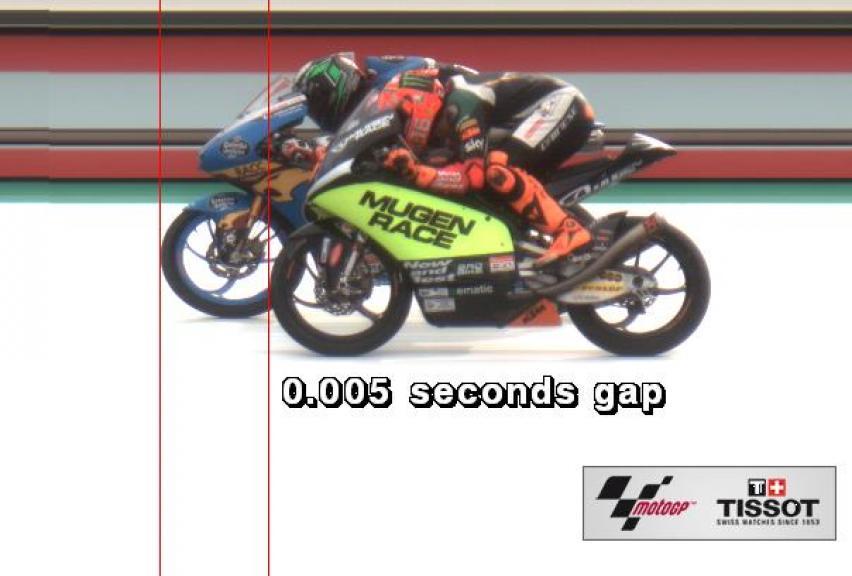 Photo finish, Moto3, Gran Premio Motul de la Comunitat Valenciana