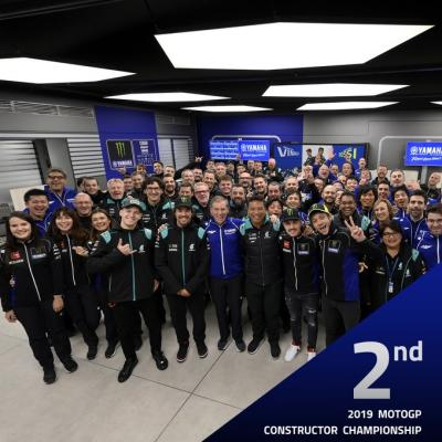 2nd in the 2019 @MotoGP  Constructor Championship. A real Yamaha-Family