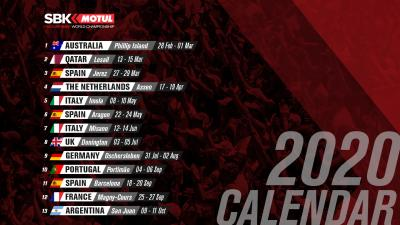 2020 MOTUL FIM Superbike World Championship Calendar VIDEO | https://bit.ly/2KJplfI