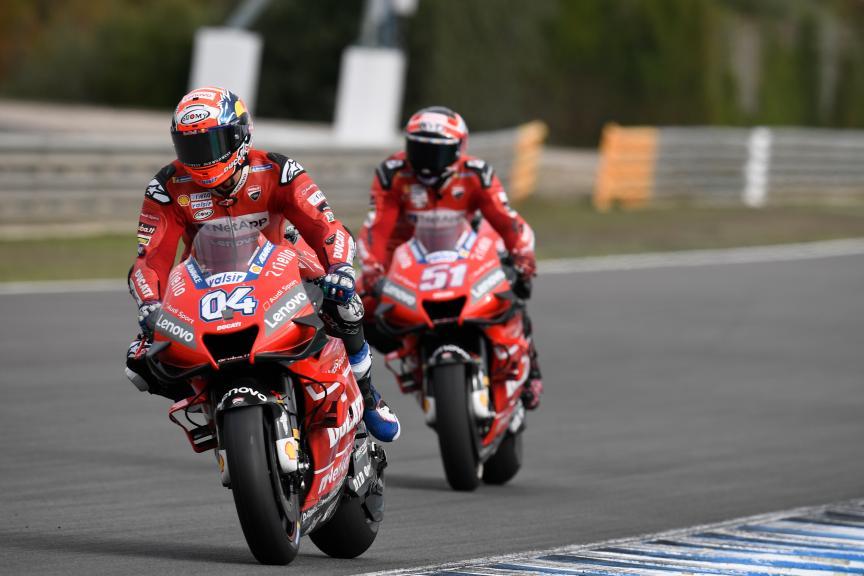 Andrea Dovizioso, Michele Pirro, Ducati Team, Jerez MotoGP™ Official Test