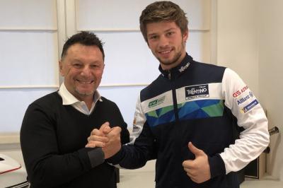 Zaccone si prepara all'esordio col Trentino Gresini 2020