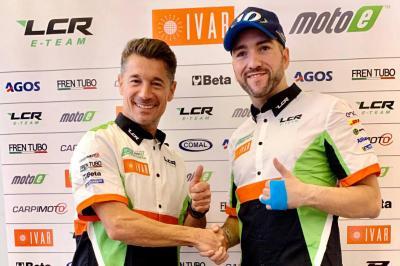 Simeon e Canepa, compagni di squadra nel LCR E-Team nel 2020