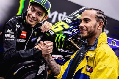 Super excited to swap rides with the legend Valentino Rossi