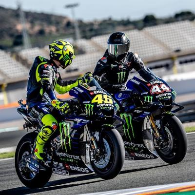 Swapping rides with @valeyellow46 was epic guys! Best day ever