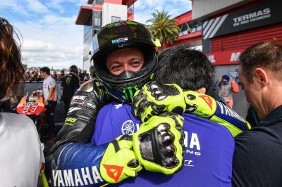 Las imágenes inéditas de Márquez y Rossi en Argentina