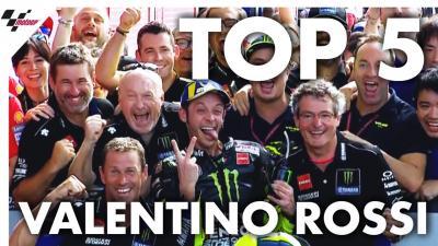 Les cinq meilleurs moments de la saison de Rossi