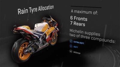 Así es la gama de neumáticos para un Gran Premio
