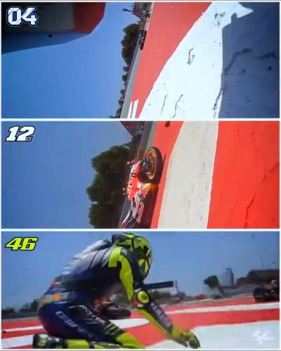 Compare and contrast the crash that marked the 2019 #CatalanGP