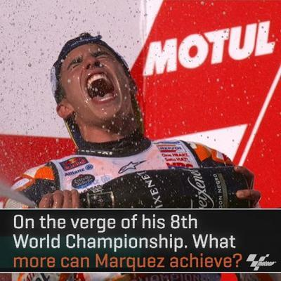 The reigning Champ @marcmarquez93 got some impressive stats during his