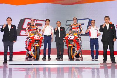 La galleria della presentazione del Repsol Honda Team