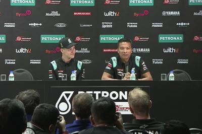 Sieh die vollständige Petronas Yamaha SRT Pressekonferenz