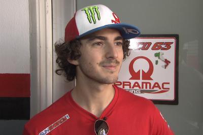 Bagnaia happy to be receiving Desmosedici GP20