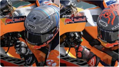 There's some pretty cool testing helmets out there! @marcmarquez93 and