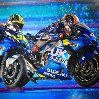 Kampfansage:Suzuki sichert sich am Eröffnungstag in Qatar P1