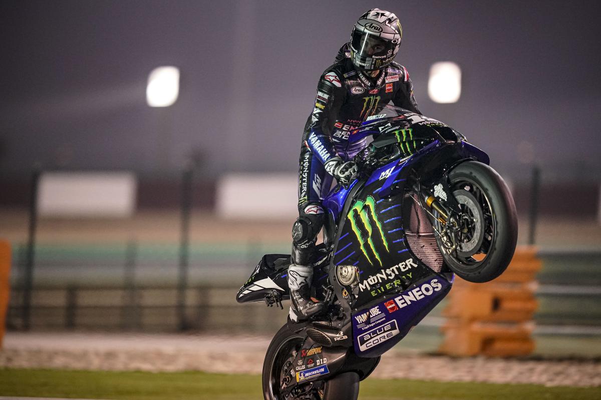 Viñales heads Yamaha top three lockout in Qatar