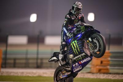 Viñales heads Yamaha top three lockout in Qatar