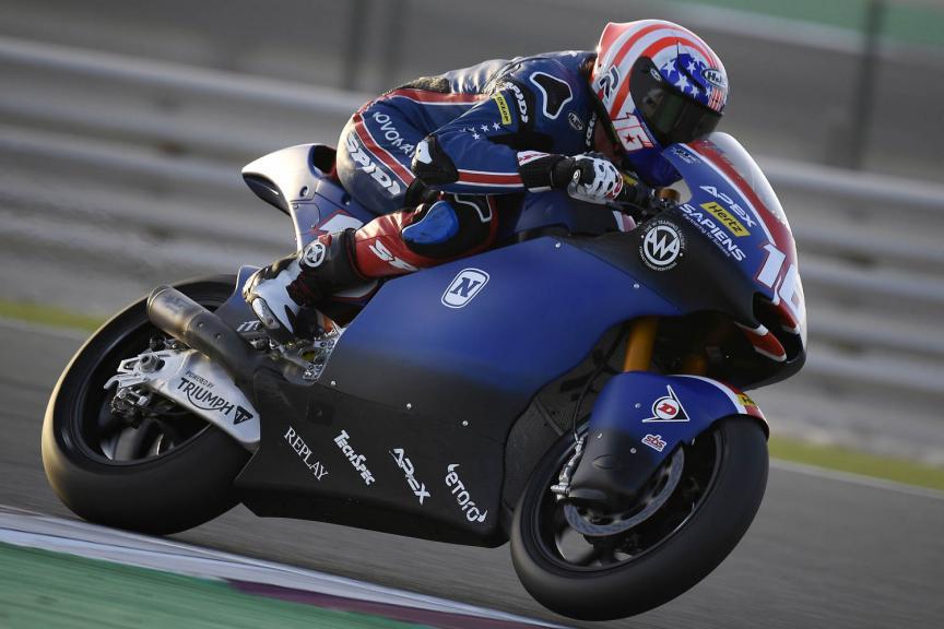 Joe Roberts, American Racing, Qatar MotoGP™ Test