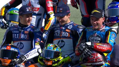 The best moments of the Moto2™ and Moto3™ 2020 class photo