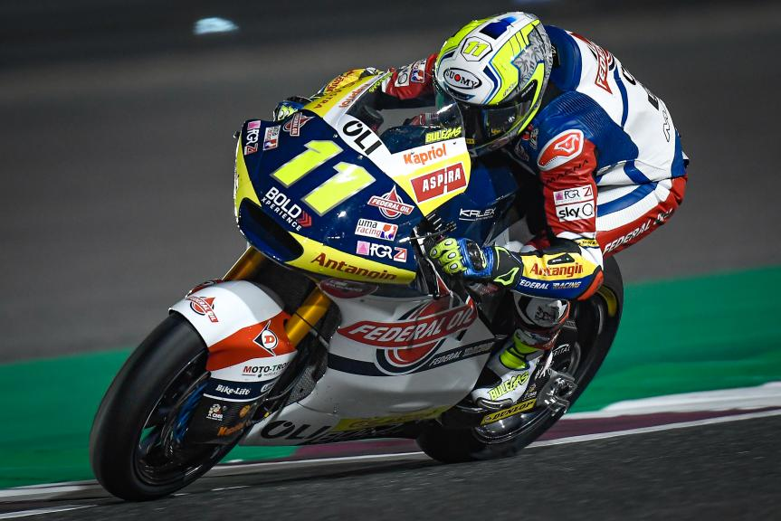 Nicolo Bulega, Federal Oil Gresini Moto2, QNB Grand Prix of Qatar