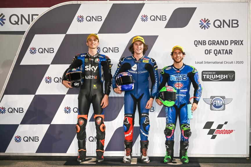Joe Roberts, Luca Marini, Enea Bastianini, QNB Grand Prix of Qatar