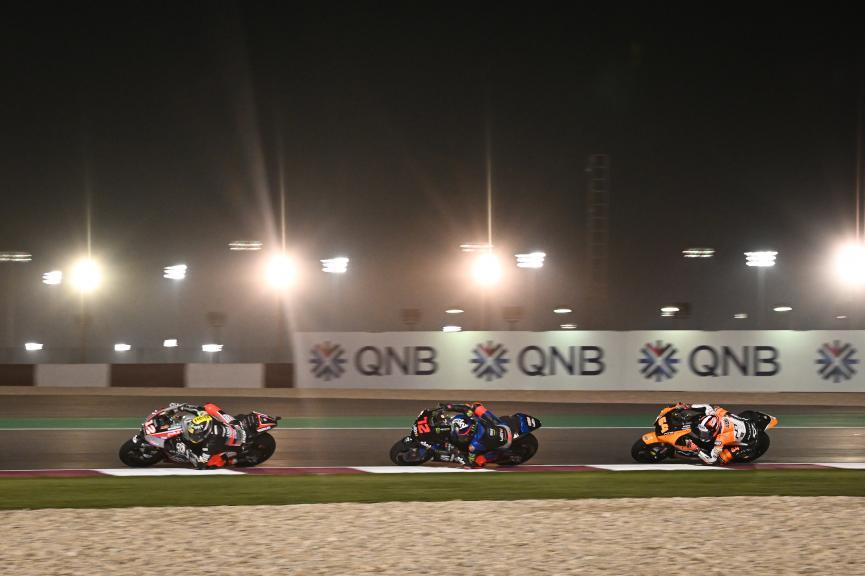 Marco Bezzecchi, Thomas Luthi, Bo Bendsneyder, QNB Grand Prix of Qatar