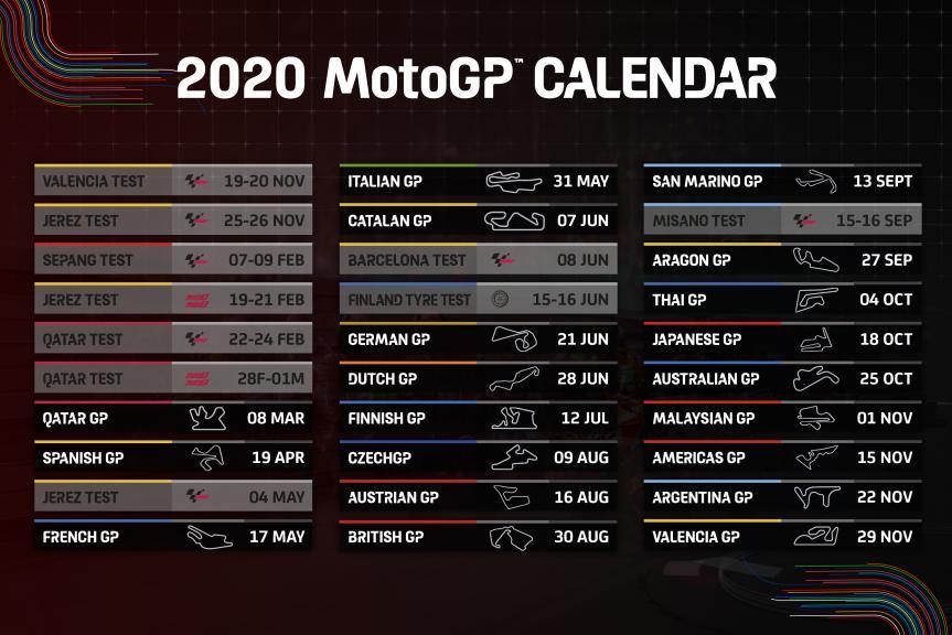 2020 MotoGP Calendar