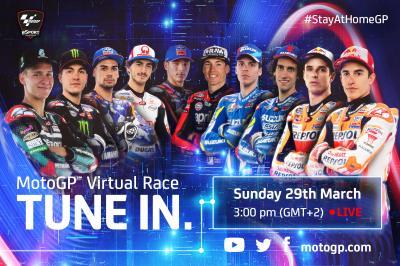 Las estrellas de MotoGP™ se retan a una Carrera Virtual