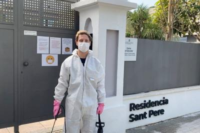 Aegerter helps fight coronavirus at Spanish care home
