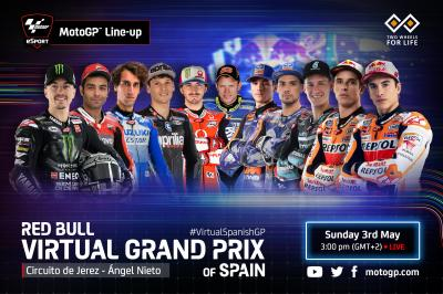 Red Bull Virtual Grand Prix of Spain: the line-up