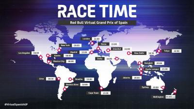 Dove e come seguire il Red Bull Virtual GP of Spain