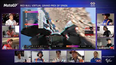 Ein großer Sturz kostet Bagnaia die Führung in Jerez