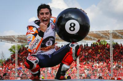 Marquez chats with NBC Sports about chasing Rossi & Agostini