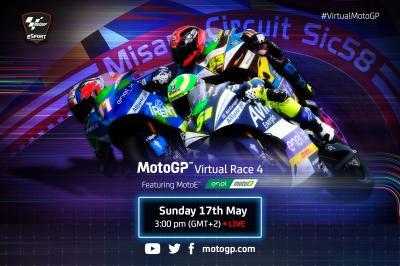 Carrera Virtual 4: MotoE™ se une a la fiesta en Misano