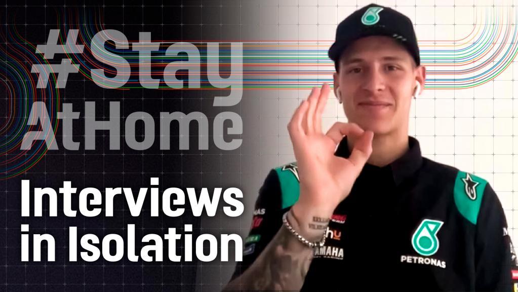 Interviews in Isolation, Fabio Quartararo, COVER