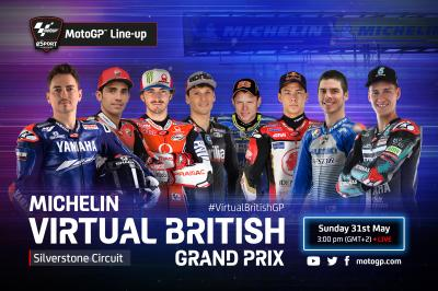 I nomi dei piloti impegnati nel Michelin® Virtual British GP