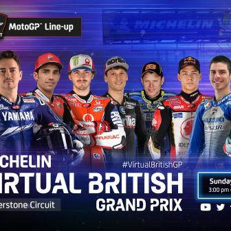Die Startaufstellung des Michelin Virtual British Grand Prix