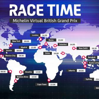 Michelin Virtual British Grand Prix: Wo kann man zuschauen?