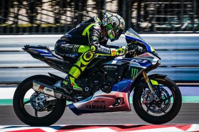 Rossi lays down the rubber at Misano