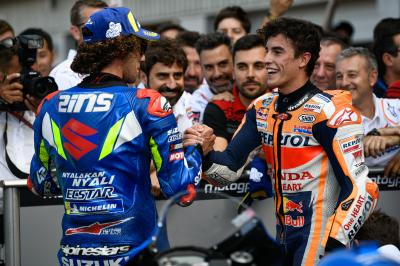 'He's considering me as a rival' - Rins talks Marquez
