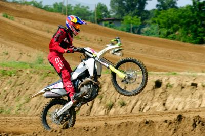@TonyArbolino was tearing it up on his motocross bike at