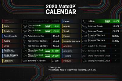 Motoe Il Calendario Della Stagione 2020 Motogp
