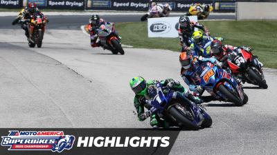 MotoAmerica Superbikes At Road America 2: Race 1 Highlights