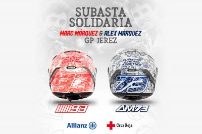 Marc & Alex Marquez unveil special charity helmet for Jerez