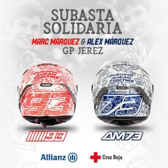 Marc & Alex Marquez enthüllen ihre Charity-Helme für Jerez