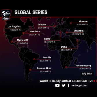 Where to watch the Motogp eSport Global Series round #1