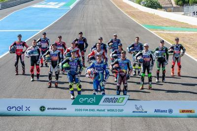 2020 #MotoE class photo The FIM Enel MotoE World Cup