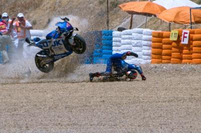 La Q2 de MotoGP™ en Jerez, sacudida por las caídas