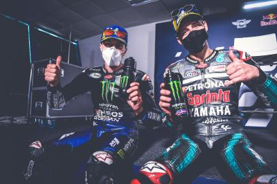 Unseen: Quartararo & Viñales analyse the Spanish GP