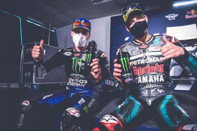 Unseen: Quartararo y Viñales analizan el GP de España