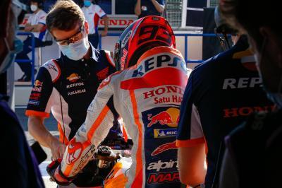 La vuelta de Márquez a pista causa furor en las redes